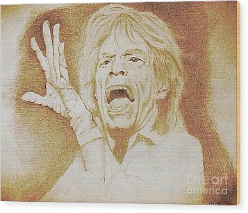 Mick Jagger Of The Rolling Stones Wood Print