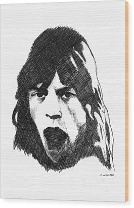 Mick Wood Print by Michael Wicksted