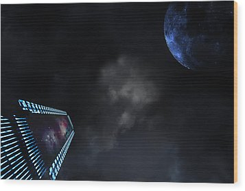 Wood Print featuring the photograph Micro Chips In Outer Space On The Way To Planets by Christian Lagereek