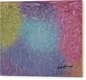 Microbes Wood Print by Anthony Caruso