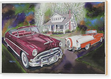 Mid Century Classics Wood Print by Mike Hill