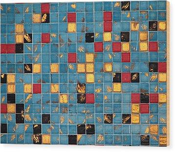 Mid Century Tiles Wood Print