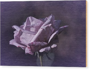Wood Print featuring the photograph Mid September Purple Rose by Richard Cummings