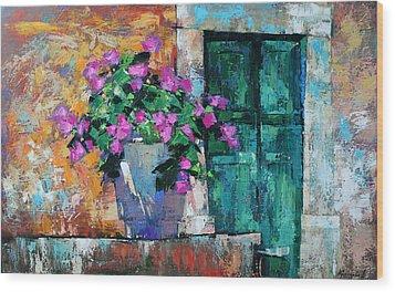 Wood Print featuring the painting Mid Summer by Anastasija Kraineva