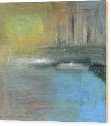 Wood Print featuring the painting Mid-summer Glow by Michal Mitak Mahgerefteh