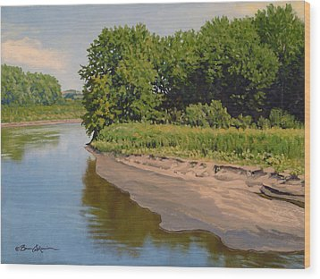 Mid Summer Prairie Stream Wood Print by Bruce Morrison