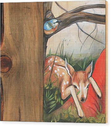 Mid-summers Day Dream 1st Panel Wood Print by Jacque Hudson