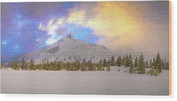 Mid-winter Sunset Wood Print