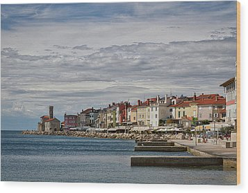 Wood Print featuring the photograph Midday In Piran - Slovenia by Stuart Litoff