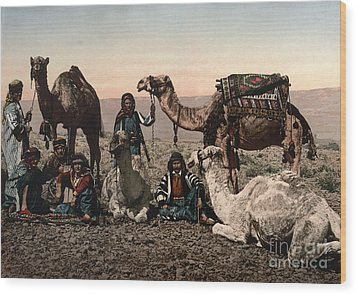 Middle East: Travelers Wood Print by Granger