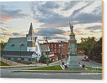 Middlebury Vermont At Sunset Wood Print