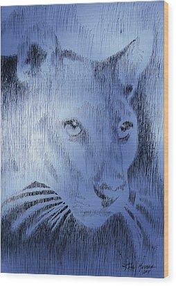 Midnight Blue Wood Print by Robbi  Musser