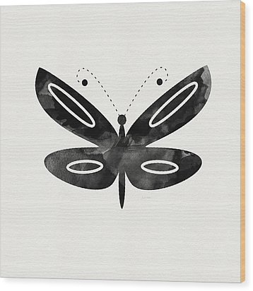 Midnight Butterfly 1- Art By Linda Woods Wood Print by Linda Woods