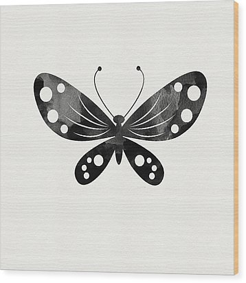 Midnight Butterfly 3- Art By Linda Woods Wood Print