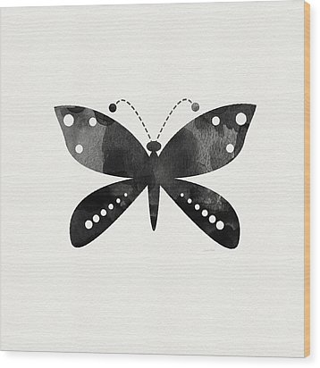 Midnight Butterfly 4- Art By Linda Woods Wood Print