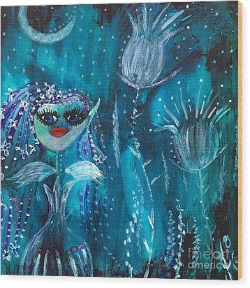 Midnight Fairy Wood Print