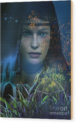 Midnight Gaia Wood Print