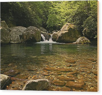 Midnight Hole In Big Creek Wood Print