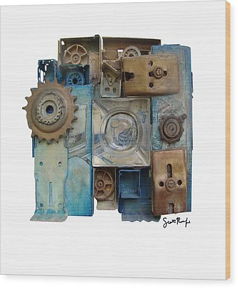 Midnight Mechanism Wood Print by Scott Rolfe