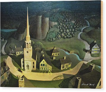 Midnight Ride Of Paul Revere Wood Print
