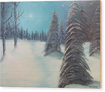 Midnight Silence Wood Print