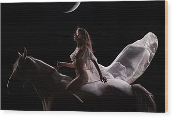 Wood Print featuring the photograph Midnight Sojourn by Dario Infini