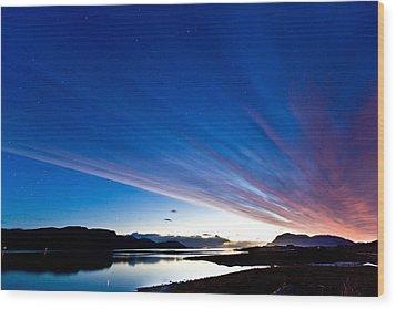 Midnight Stripes Wood Print