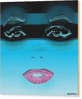 Midnight Swim Wood Print by Joy McKenzie