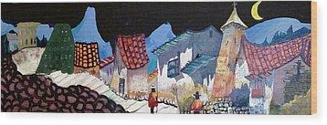 Midnight Walk In Peru Wood Print