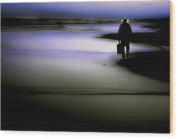 Wood Print featuring the photograph Midnight Wanderer by Gray  Artus