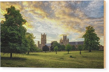 Midsummer Evening In Ely Wood Print