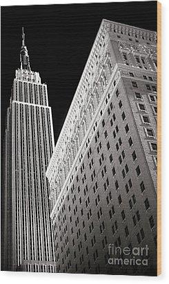 Midtown Empire Wood Print by John Rizzuto