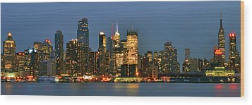 Midtown Manhattan Wood Print by Zawhaus Photography