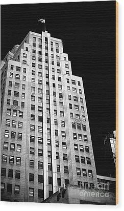 Midtown Style Wood Print by John Rizzuto