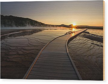 Wood Print featuring the photograph Midway Basin Sunset by Dan Mihai