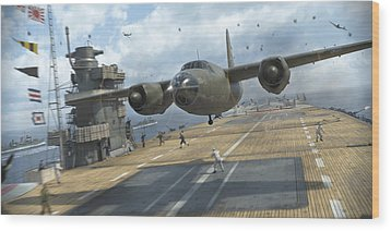 Midway Marauder Wood Print by Robert Perry