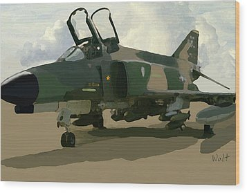 Wood Print featuring the digital art Mig Killer by Walter Chamberlain