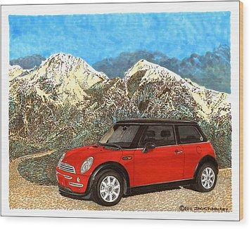 Mighty Mini Cooper S Wood Print by Jack Pumphrey