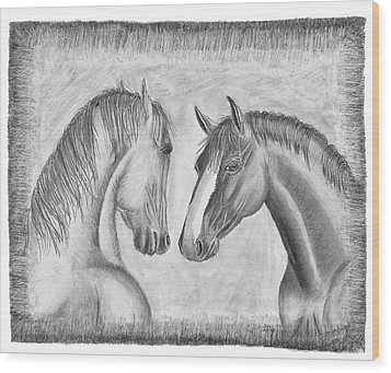 Mighty Vs Gentle Wood Print by Susan Schmitz