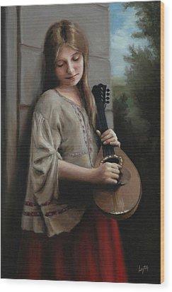 Mignon Wood Print by Shelley  Thayer Layton