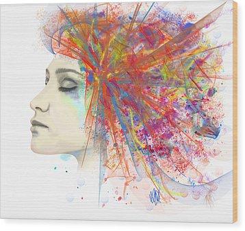 Migraine Wood Print by Angela A Stanton