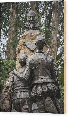 Miguel De Cervantes Memorial Wood Print by Anthony Citro
