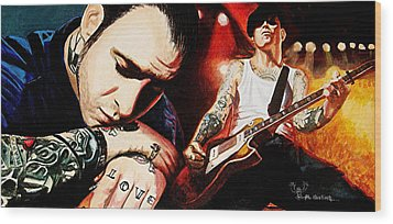 Mike Ness 'nuff Said Wood Print by Al  Molina