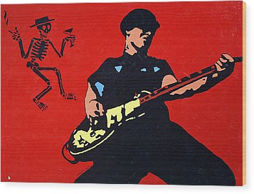 Mike Ness Wood Print by Steven Sloan