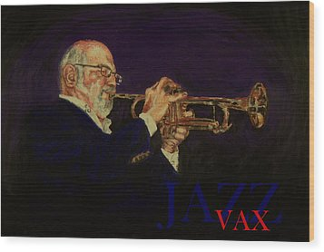 Mike Vax Wood Print by Laurie Tietjen