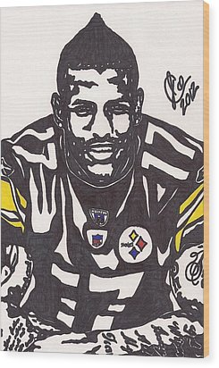 Wood Print featuring the drawing Mike Wallace 1 by Jeremiah Colley