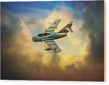 Wood Print featuring the photograph Mikoyan-gurevich Mig-15uti by Chris Lord