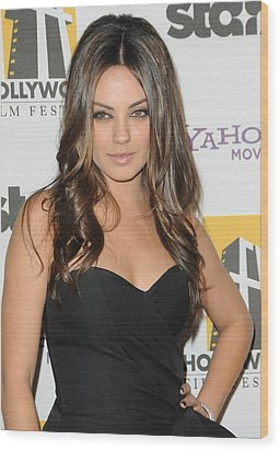 Mila Kunis At Arrivals For 14th Annual Wood Print by Everett