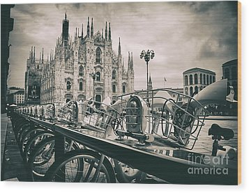 Milan Metropolitan City Wood Print by Alessandro Giorgi Art Photography