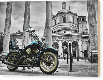 Milan__ Monument S Wood Print by Alessandro Giorgi Art Photography